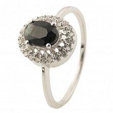 Серебряное кольцо Эсфирь с сапфиром и фианитами