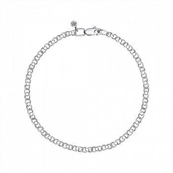 Серебряный браслет в плетении арабский бисмарк, 3 мм 000118119