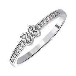Срібне кільце з фіанітами 000144067