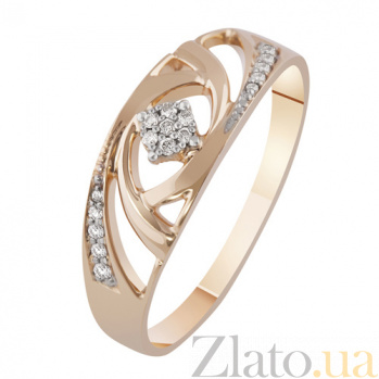 Золотое кольцо с бриллиантами Виконтесса KBL--К1979/крас/брил