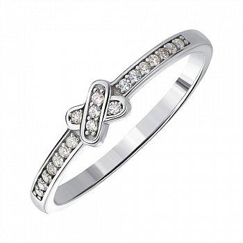 Серебряное кольцо с фианитами 000144067