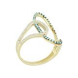 Золотое кольцо с фианитами Дарьяна