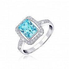 Серебряное кольцо Иветта с фианитами