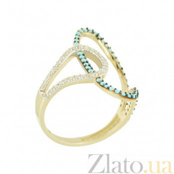 Золотое кольцо с фианитами Дарьяна 2К765-0056