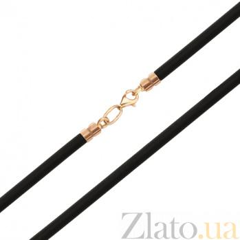 Каучуковый шнурок с замком из красного золота Лилиана SUF--350113