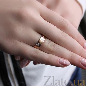 Золотое обручальное кольцо Мир и лад с фианитами TRF--412275