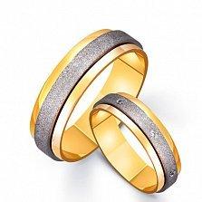 Золотое обручальное кольцо Ангел