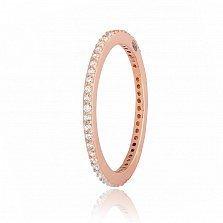 Позолоченное кольцо из серебра с цирконием Жанетт