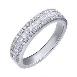 Кольцо из белого золота с бриллиантами 000139467