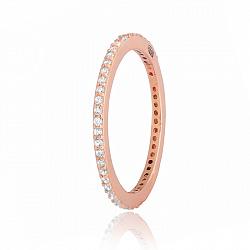 Позолоченное кольцо из серебра Элейн с цирконием