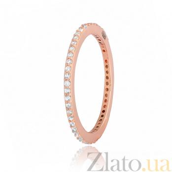 Позолоченное кольцо из серебра с цирконием Жанетт 000028187