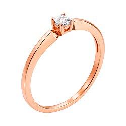 Золотое кольцо в комбинированном цвете с бриллиантом 000117667