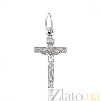 Крестик из белого золота Канон EDM--КР0141/1