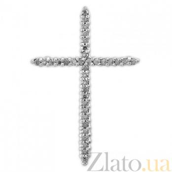 Золотой крестик Внутренний свет SVA--3100297102/Фианит/Цирконий