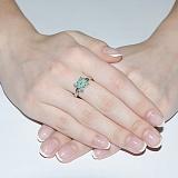 Серебряное кольцо с изумрудами Арлайн