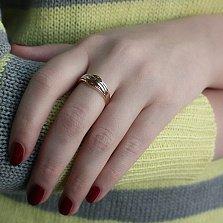 Золотое кольцо Агранна в комбинированном цвете