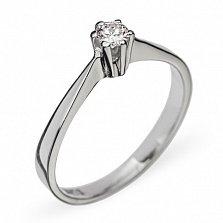 Кольцо из белого золота с бриллиантом Признание