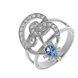 Серебряное кольцо Эмма с шпинелью и фианитами