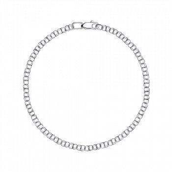 Браслет зі срібла в плетінні бісмарк, 3 мм 000118123