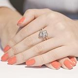 Золотое кольцо с бриллиантами Золотая орхидея