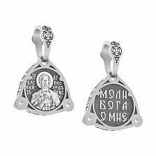 Серебряная ладанка Александр Невский с чернением