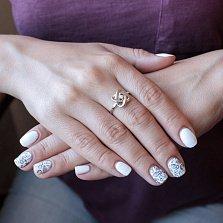 Золотое кольцо Ористея с бриллиантом