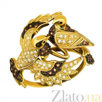 Кольцо Влюбленная парочка в желтом золоте VLT--TT1081-1