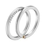 Кольцо в белом и желтом золоте Вечная любовь с бриллиантом