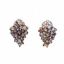 Золотые серьги Джорджина с бриллиантами