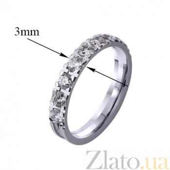 Золотое обручальное кольцо Love me с фианитами 000010088
