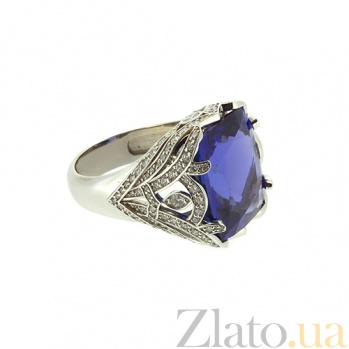 Золотое кольцо с бриллиантами и танзанитом Tanzania ZMX--RDTz-00150w
