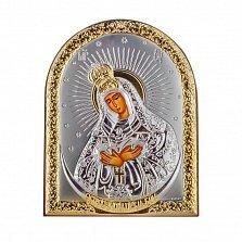 Икона Остробрамская Божья Матерь на деревянной основе, 8х11см