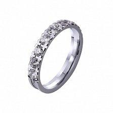 Золотое обручальное кольцо Love me с бриллиантами