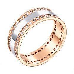 Золотое обручальное кольцо с фианитами 000103706