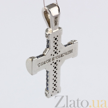 Золотой крест Абсолют с сапфирами VLN--124-1542-14*