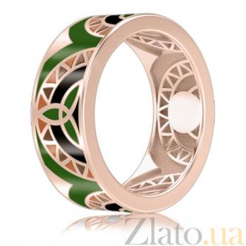 Мужское обручальное кольцо Талисман: Жизни с эмалью 3007