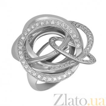 Золотое кольцо Омега с фианитами VLT--ТТ1038