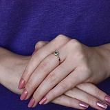 Золотое кольцо Небесный ореол с изумрудом и бриллиантами