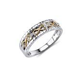 Обручальное кольцо Миранда из белого и красного золота с бриллиантами