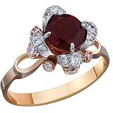 Золотое кольцо с гранатом Эсмеральда
