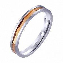 Золотое обручальное кольцо Идиллия