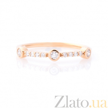 Кольцо из красного золота Корнелла с бриллиантами 000096468