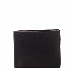 Кожаный кошелек-книжка Genuine Leather pt008 черного цвета