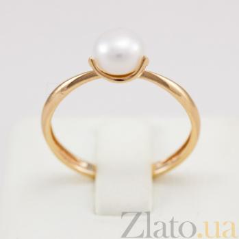 Кольцо из красного золота с жемчугом Лотос VLN--212-1712