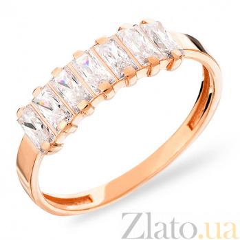 Золотое кольцо с фианитами Блеск софитов SUF--140568