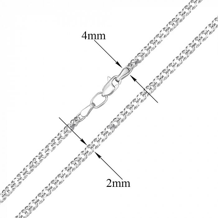 Серебряная цепочка Ремина в плетении ромб, 2 мм 000117778