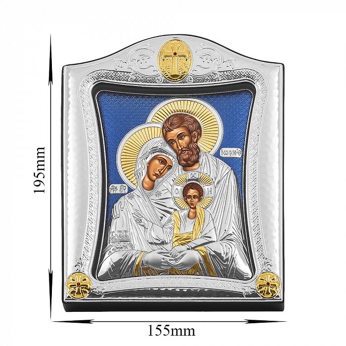 Серебряная икона Святое семейство с позолотой 000139759 000139759