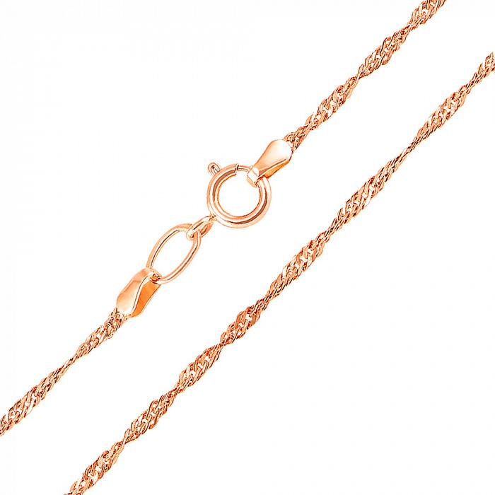 Цепочка из красного золота Исидора, 2 мм 000106390