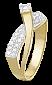 Серебряное кольцо с цирконием Марика 000025625