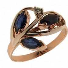 Золотое кольцо Селина с фианитами